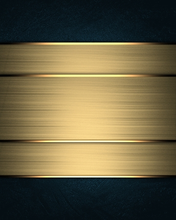 Template for writing. Blue background with gold nameplate Stock Photo