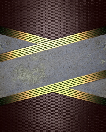 Design template - Brown background with crossed ribbons and golden edges