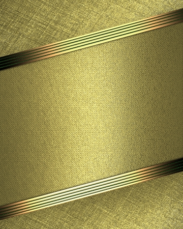 Design template - Gold background with beautiful gold nameplate and golden edges photo