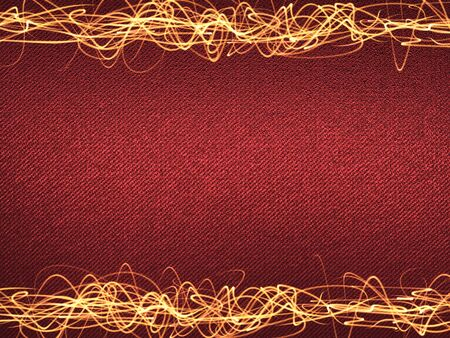 overlaying: Overlaying wavy lines forming an abstract pattern on a red background. Template for text.