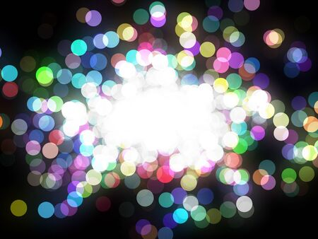Design template - christmas sparkle. Flickering colorful Lights. particles Stock Photo - 16685766