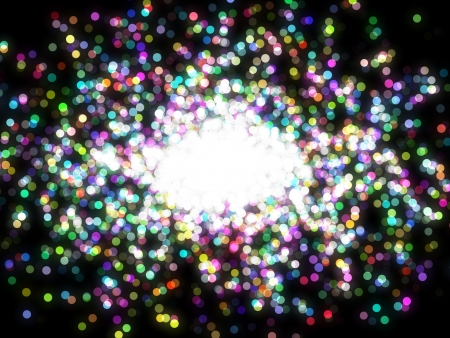 Design template - christmas sparkle. Flickering colorful Lights. particles Stock Photo - 16685768