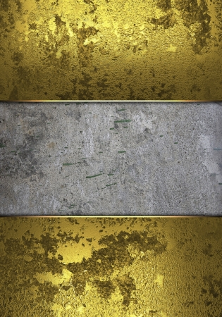 classy background: Design template - Gold edges with grunge wall for text