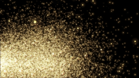 flickering: Design template - christmas sparkle. Flickering yellow Lights, on black background Stock Photo