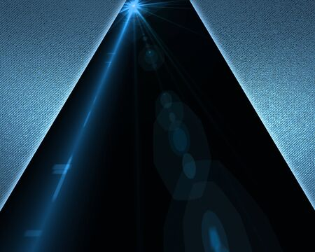The template for the inscription. Triangular Blue background with black nameplate and of blue rays Stock Photo - 16842367