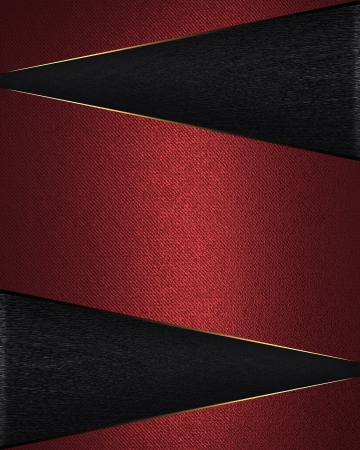 Design template - Black background with red nameplate. photo