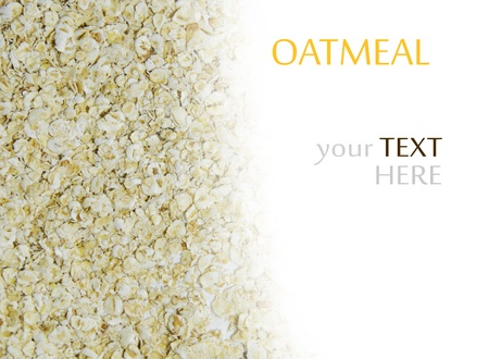oatmeal isolated on white background. Stock Photo - 16944527