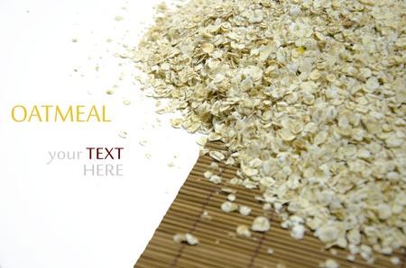 oatmeal isolated on white background. photo