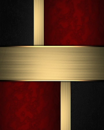 gold plaque: Golden texture with black and red inserts and gold nameplate.