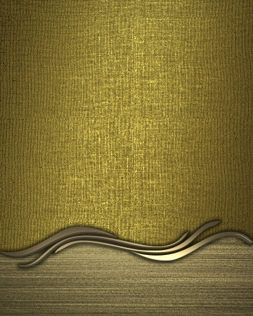 classy background: Design template - Gold rich texture with golden plate for text