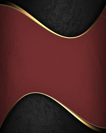 Red texture with abstract black plate for text photo
