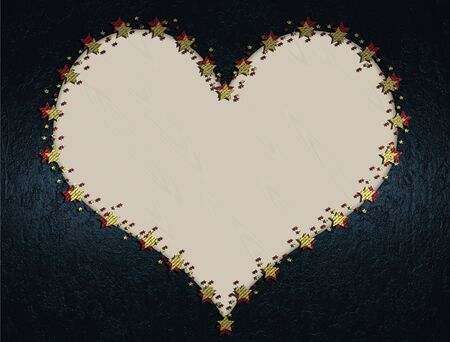 White hearts on a blue background, valentine's day. photo
