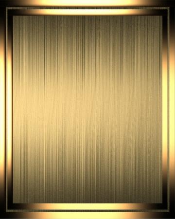 FANCY BORDER: The template for the inscription. Golden texture in golden frame