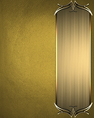 Design template - Gold texture with beautiful Gold nameplate with gold ornate edges Stock Photo - 17430664