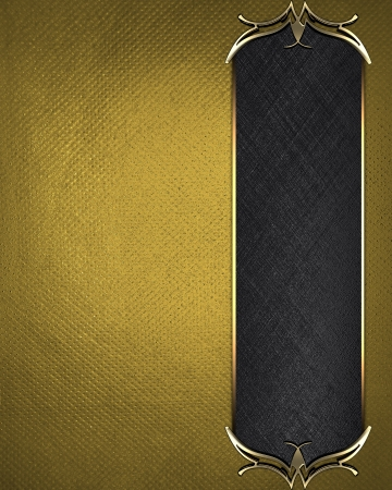 Design template - Gold texture with beautiful black nameplate with gold ornate edges Stock Photo - 17430669