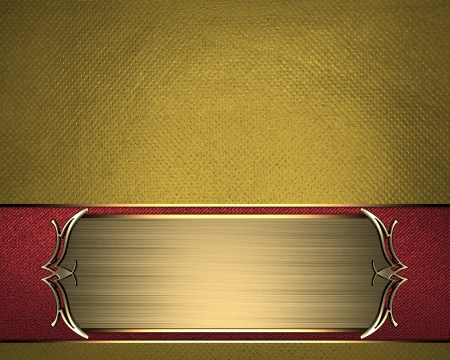 Gold texture with beautiful Gold name plate with gold ornate edges. Stock Photo - 17430666