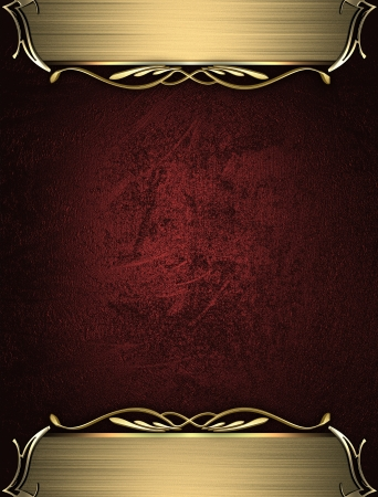 Design template - Red rich texture with golden edges and gold trim Stock Photo - 17430578