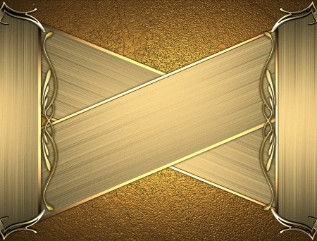 Design template - Gold rich texture with golden edges and gold trim. Intersected gold plates Stock Photo - 17430668