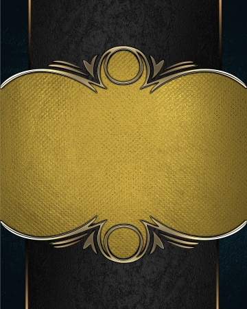 Design template - Gold rich texture with black edges and gold trim Stock Photo - 17430582