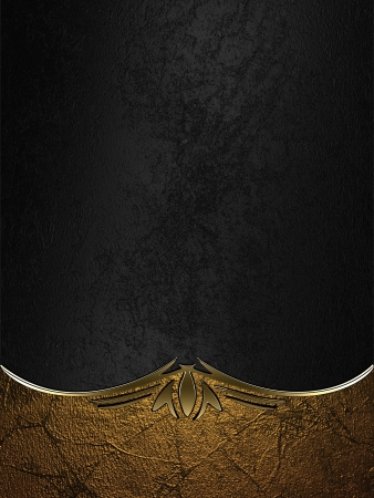 Design template - Gold rich texture with black edges and gold trim Archivio Fotografico