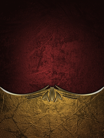 Design template - Gold rich texture with black edges and gold trim Stock Photo - 17430665