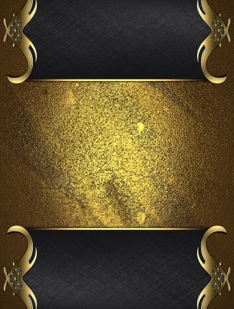 Design template - Gold rich texture with Black edges and gold trim photo