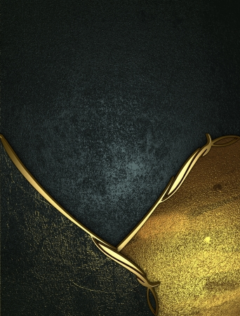 Design template - Blue grunge texture with golden and black edges and gold trim Stock Photo - 17706459