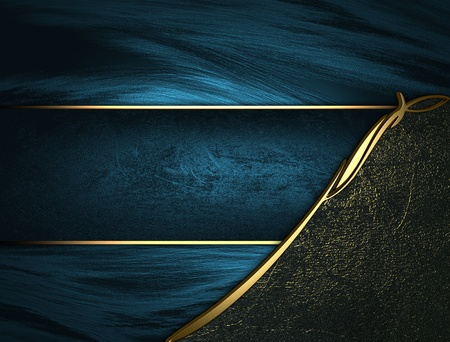 Design template - Blue texture with black edges and gold trim and blue name plate photo