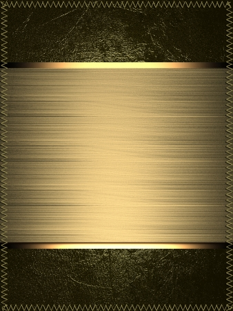 Template for writing. Gold name plate with gold edges, on gold background Stock Photo - 17706419
