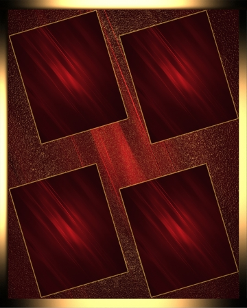 Design template - Red texture with red frames Stock Photo - 17706389