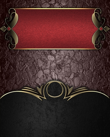 Design template - Brown texture with black edges and red nameplate Stock Photo - 17706421