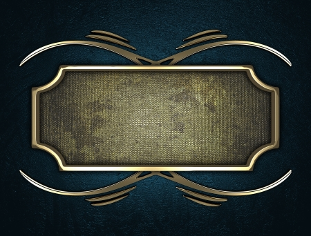 Design template - Blue texture with gold name plate with gold ornate edges Stock Photo - 17706464