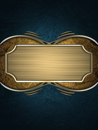 Design template - Blue texture with gold name plate with gold ornate edges Stock Photo - 17706433