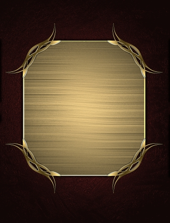 Design template - Red texture with gold name plate with gold trim Stock Photo - 17706422