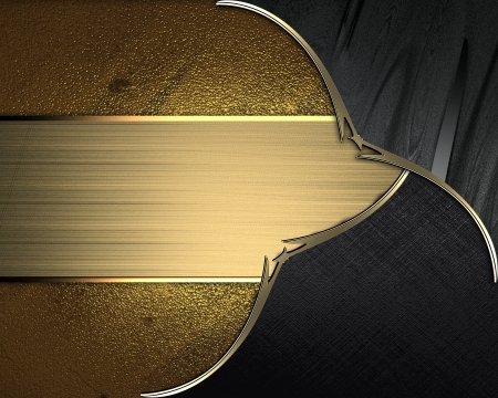 Design template - Black plates with gold ornate edges, on gold background with gold nameplate