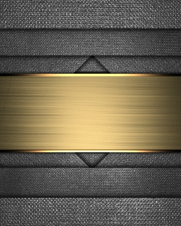 Design template - Metal texture with different notches and gold nameplate photo