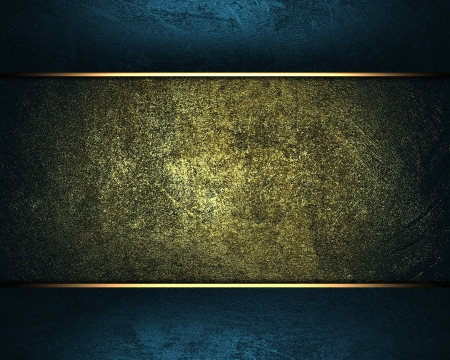 Design template - Old dark yellow background with blue edges. photo