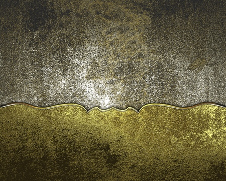 Design template - Old iron background with antique gold plate Stock Photo - 17937776