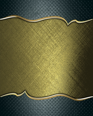 Design template -  Gold rich texture with grunge green edges and gold trim photo