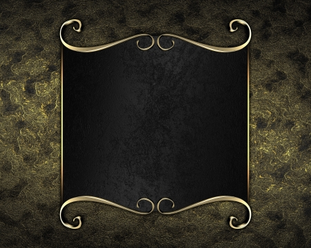 Design template - gold background with Black nameplate with gold trim photo