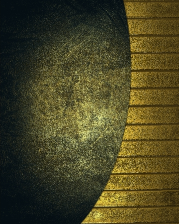 gilding: Dark golden background and gold background with stripes Stock Photo