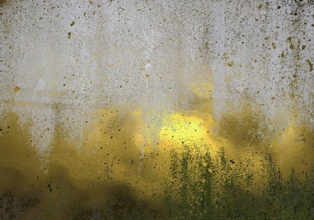 Template for design. Old concrete wall with worn gold Stock Photo - 18140384