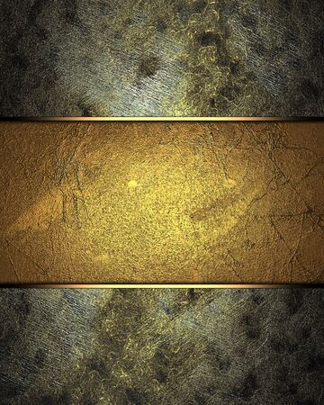 Rusty dirty texture with abstract gold texture (background) Stock Photo - 18140485