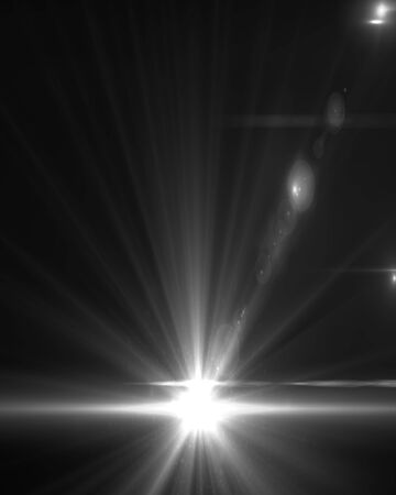 stare: Design template - Star, sun with lens flare. Rays background.