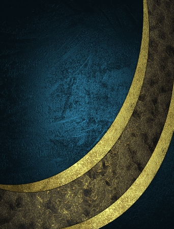 gold textures: The template for the inscription. Abstract blue and gold textures separated golds ribbons