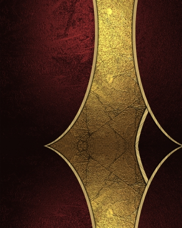 Abstract gold strip with red inserts at the edges photo