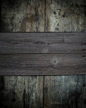 Vintage wooden background with wooden board photo