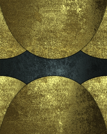 inserts: Design template - Gold inserts on a blue background
