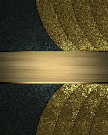 Design template - Blue background with gold stripes with gold plate