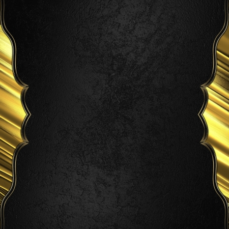 gold plaque: Black background with gold edged with gold trim. Design template